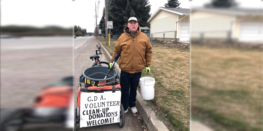 Coeur d'Alene man cleaning up his neighborhood
