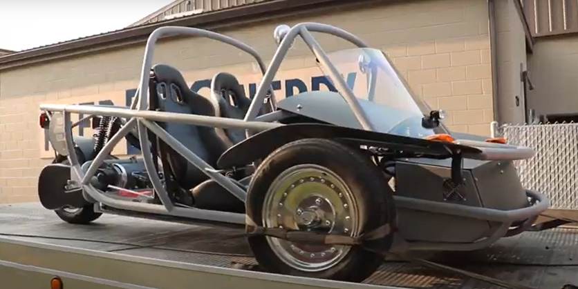 Three-wheeled vehicle called the Switch