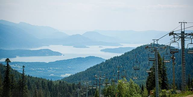View of Schweitzer Mountain