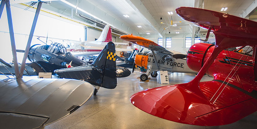 Different types of planes at the Historic Flight Foundation's new musuem