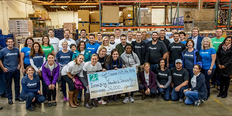 Avista partners with Second Harvest Food Bank