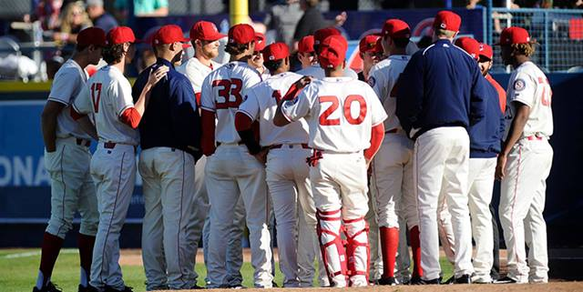 Spokane Indians huddled
