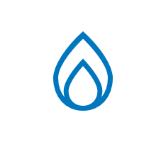 Illustrated icon of a natural gas flame