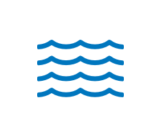 Illustrated icon of water waves