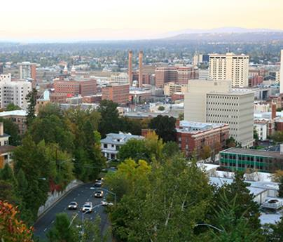Spokane downtown view